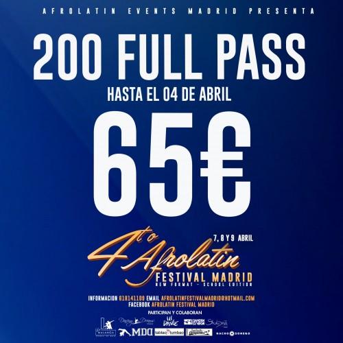 Full Pass Afrolatin Festival Madrid 2018
