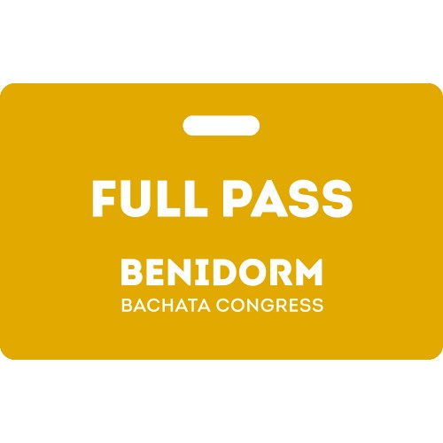Full Pass Benidorm Bachata Congress 2020