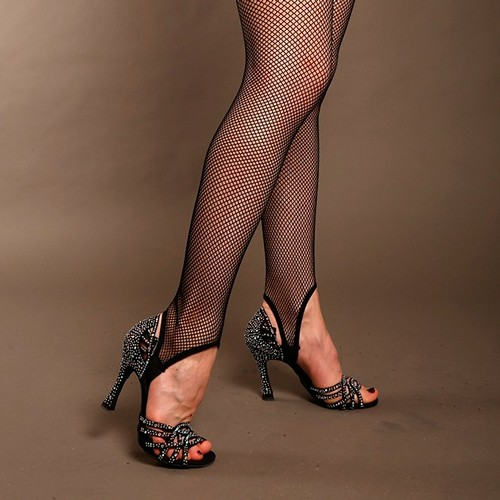 Professional Fishnet Legging With Stirrup and Soft Elastic Under The Foot