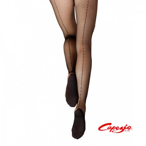 Capezio Fishnet stockings with crystal line